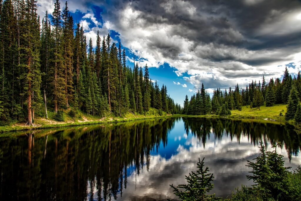 Lake Irene Colorado Water Reflections Sky Clouds Landcape SDGchannel Happiness